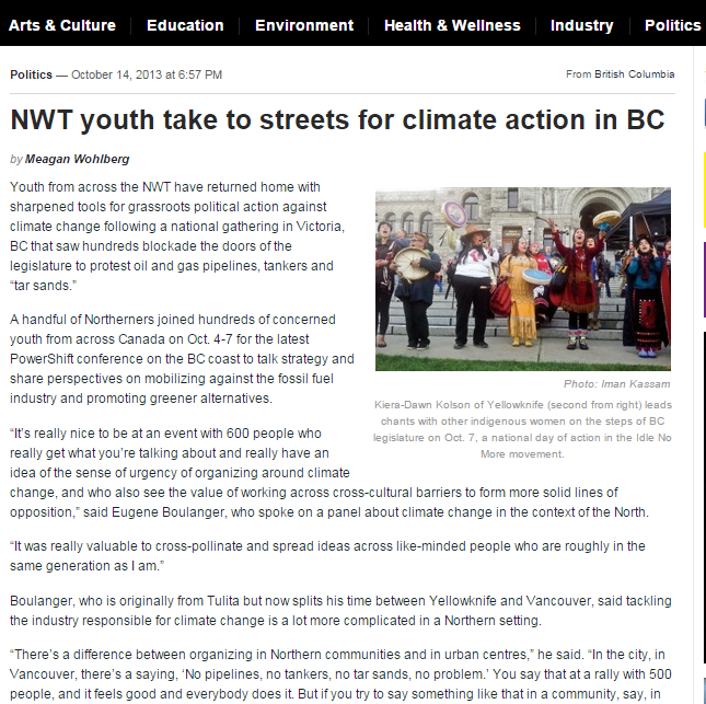 NWT youth streets BC