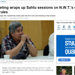 Tulita meeting wraps up Sahtu sessions on N.W.T.'s draft fracking rules