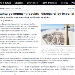 Sahtu government rebukes 'disregard' by Imperial