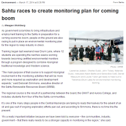 Sahtu Races to Create monitoring Plan for Coming Boom