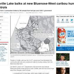 Colville Lake balks at new Bluenose-West caribou hunting controls
