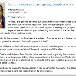 Sahtu resources board giving people a voice