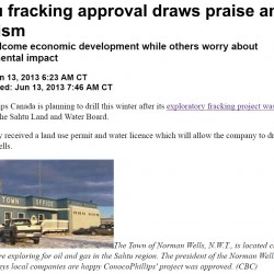 Sahtu Fracking Approval Draws Praise and Criticism